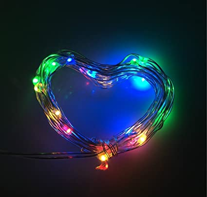 bolweo colorful battery powered led string lightsbattery operated christmas lights10ft copper wire