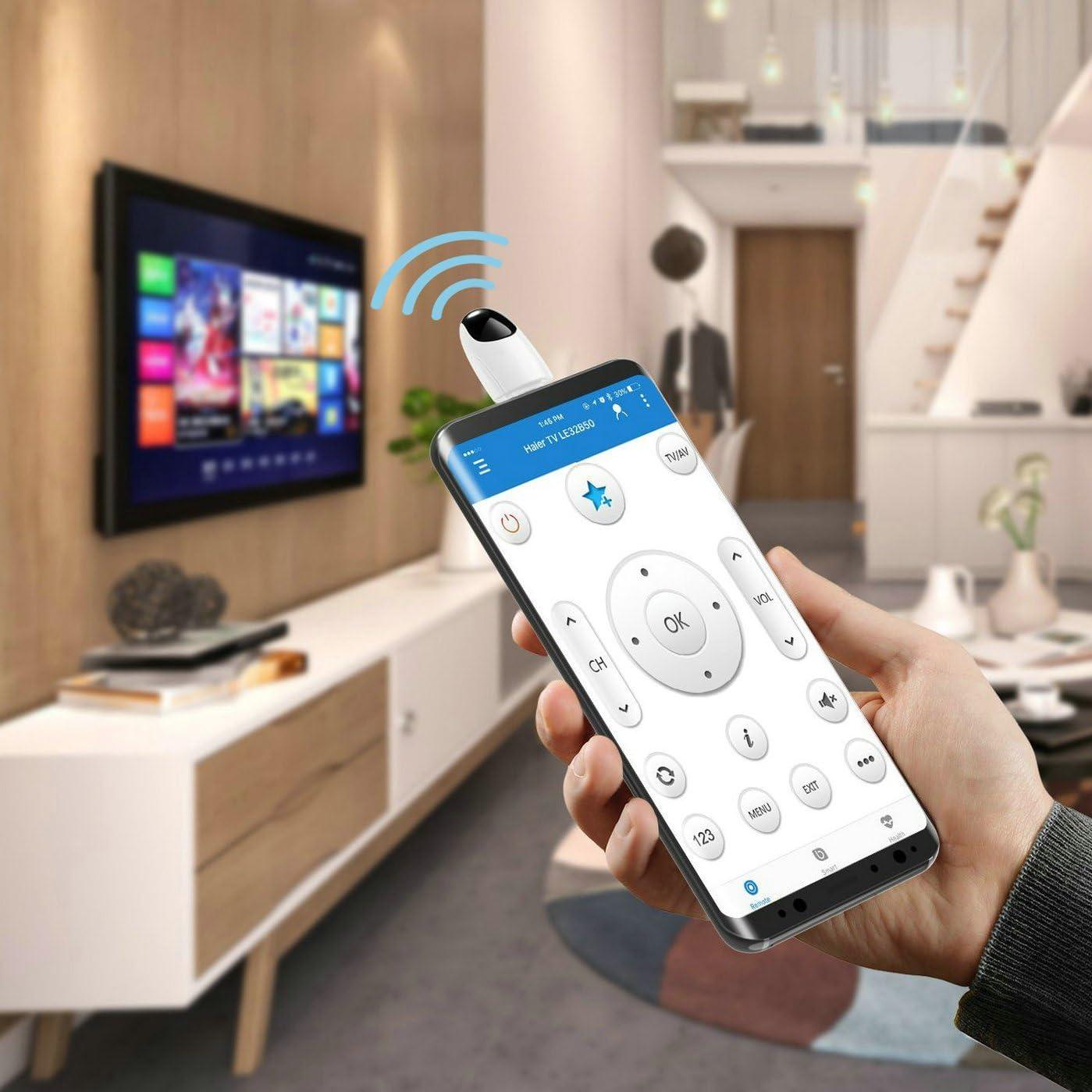GuDoQi Dispositivos IR Universales Adaptador Remoto Inalámbrico para Teléfono Tnteligente, Mando a Distancia Antipolvo para Smartphone Android OTG (USB Tipo-C): Amazon.es: Electrónica