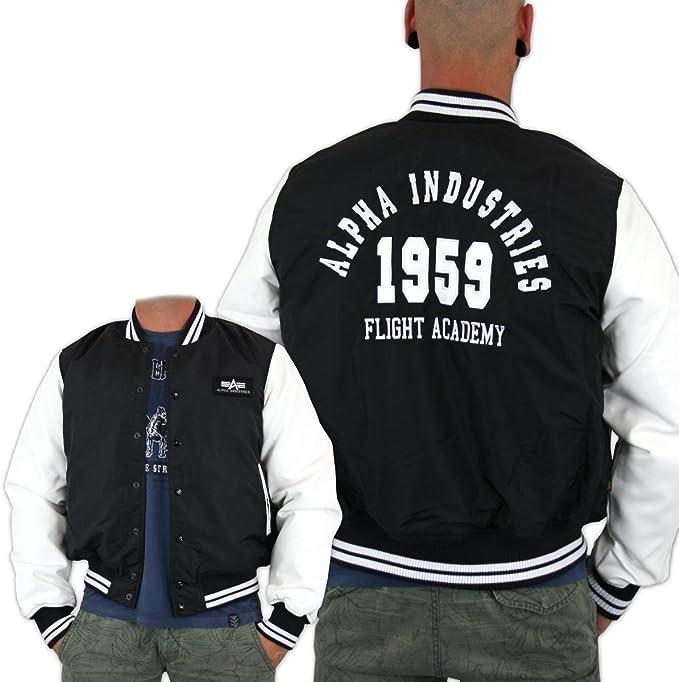 alpha industries college bomberjacke black jacken