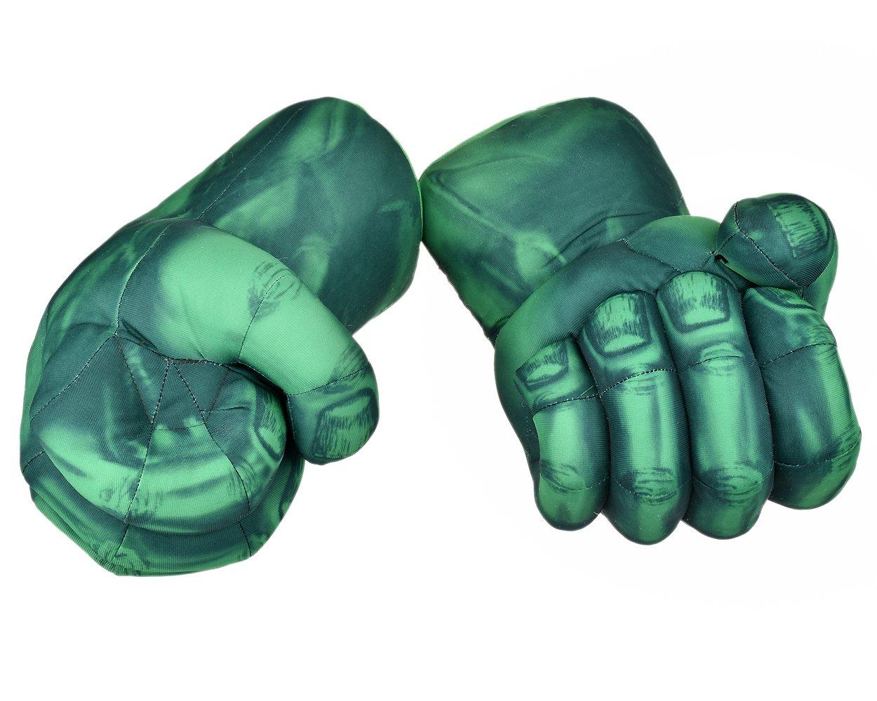 distinctive style Dstyles Guanti da Boxe per Bambini Paio di Guanti da Pugilate Peluche Guanti da Combattimento Grande Costume Cosplay per Bambini Verde ds