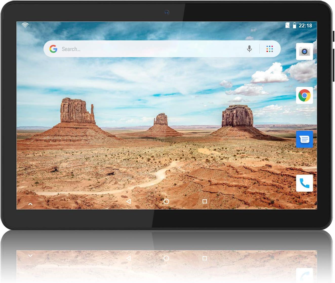 Tablet 10 Pulgadas Android 6.0 WiFi Unlocked 3G Phone Tablet PC 1GB + 16GB MTK6580 1.3GHz Quad-Core IPS Pantalla 800 × 1280 Dual Camera Soporte para teléfono Celular 2G 3G WiFi Bluetooth