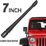 Rydonair Antenna Compatible with 2007-2020 Jeep Wrangler JK JKU JL JLU Rubicon Sahara Gladiator, 7 inches Flexible…