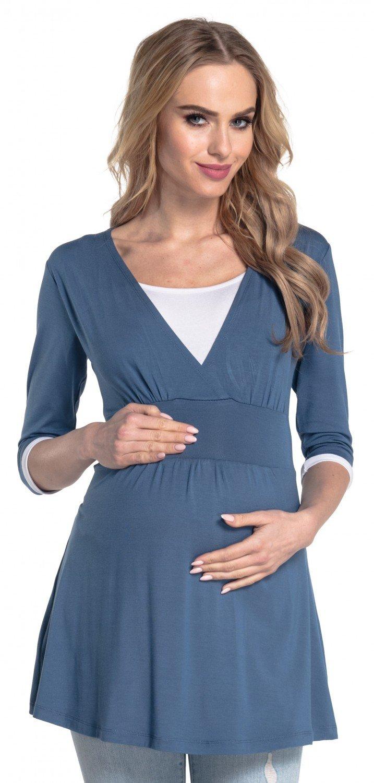 Happy Mama. Para Mujer Camiseta Premamá y De Lactancia Cuello Doble Capa. 950p nursingtop_950