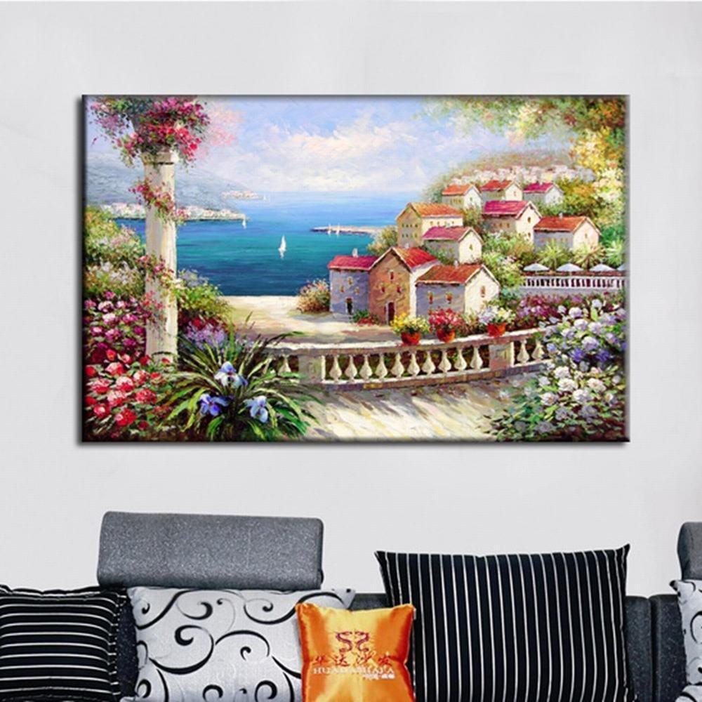 STTS Sala de Estar Pinturas Decorativas Frameless Pintado a Mano Decorativo Contexto Cocina Dormitorio Corridor Pinturas Decorativas,A-01,60  90cm