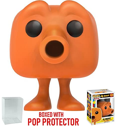 a0cd5f790f5 Image Unavailable. Image not available for. Color  Funko Pop! Games  Qbert Vinyl  Figure (Bundled with Pop BOX PROTECTOR CASE)