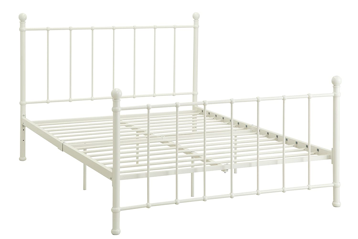 Amazoncom DHP Brick Mill Bed Metal Bed Adjustable Height for