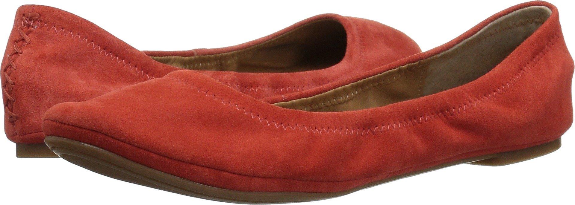Lucky Brand Women's Emmie Ballet Flat, Aurora Red, 8.5 Medium US
