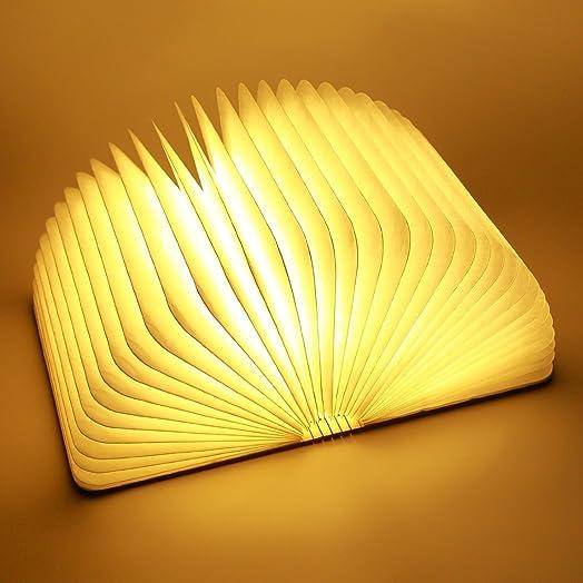 ParaCity Wooden Folding LED Nightlight Book Led Light: Amazon.co ...