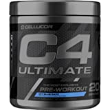 Cellucor C4 Ultimate Pre Workout Powder with Beta Alanine, Creatine Nitrate, Nitric Oxide, Citrulline Malate, and Energy Drink Mix, ICY Blue Razz, 20 Servings