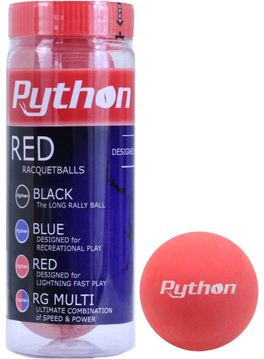 Python 3 Ball Can Red Racquetballs (Lightning Fast!) (1)