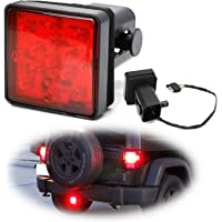 iJDMTOY Red Lens LED Tail/Brake Light Compatible With Truck SUV Trailer Class 3/4/5 2-Inch Towing Hitch Receiver…