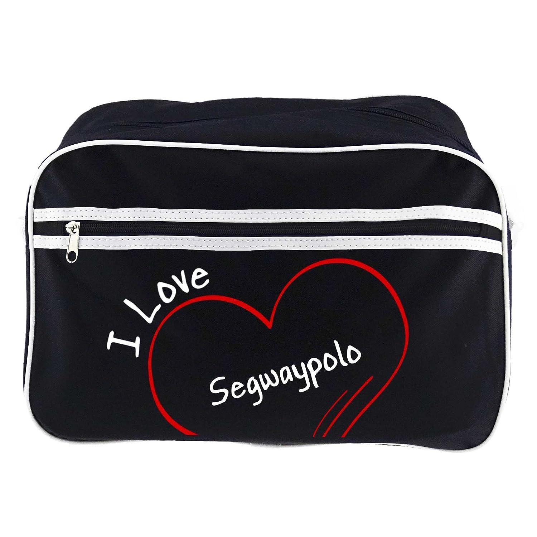 Retro bolso bandolera I Love segway Polo negro: Amazon.es ...