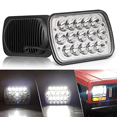 CO LIGHT Pair 7x6 5x7inchs LED Headlights Sealed Beam Hi/Lo H6054 H5054 H6014 69822 6052 6053 for XJ YJ Cherokee E250: Automotive