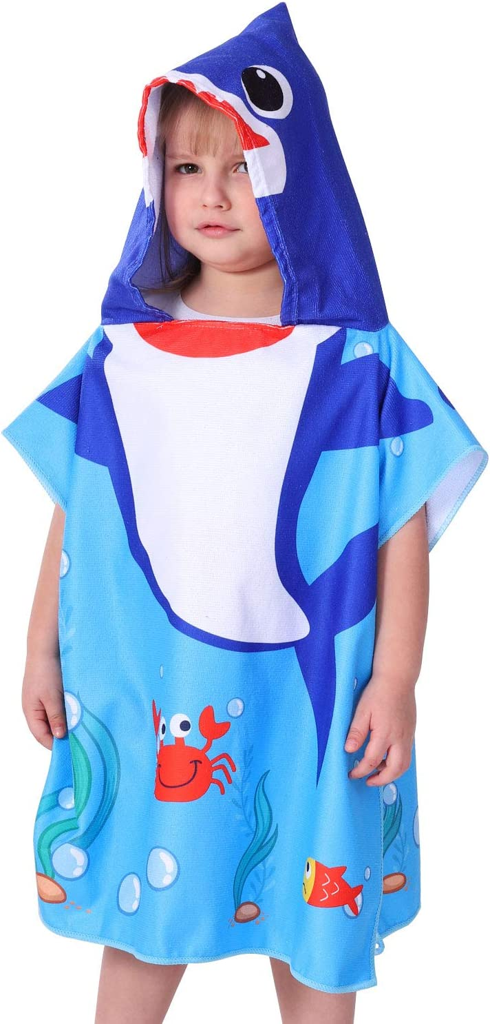 Agetp Kids Hooded Towel for Swimsuit Cover Up for Beach Pool Bath Super Soft and Absorbent 100/% Microfiber 24 W x 24 L Oversized Poncho Robes Towel for Toddlers Under Age 6