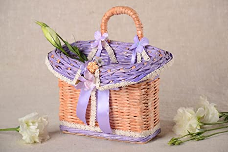 Amazon.com: Beautiful Handmade Woven Basket Designer Basket Woven Of ...