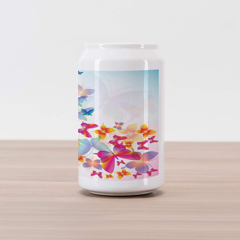 Amazon com: Lunarable Butterfly Cola Can Shape Piggy Bank