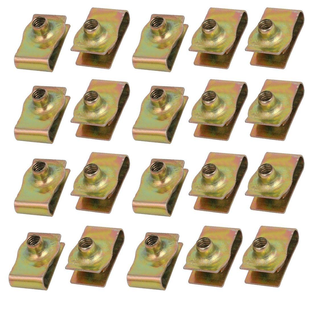 sourcingmap 20pcs acier /à ressort fixage vitesse U Laiton Clip ton vis /à vis M4