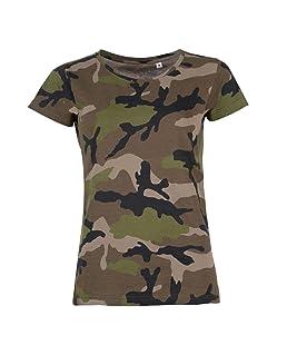 SOLS - T-shirt à motif camouflage - Femme (M (FR 38/40)) (Camouflage)
