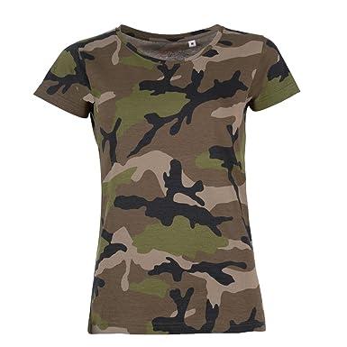 Sol S T Shirt A Motif Camouflage Femme Amazon Fr Vetements Et