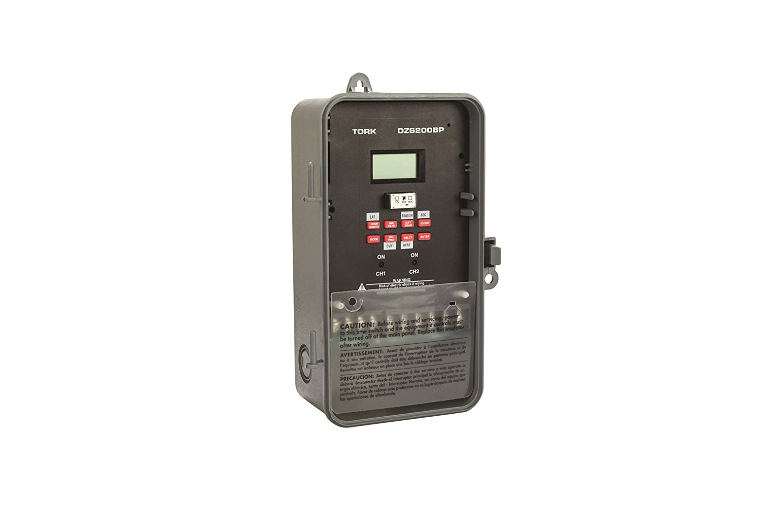 DZS Series Multipurpose Control 365/7 Day Advanced Time Switch, 120/208-240/277 VAC Timer Supply, 2 Channels, SPDT Dry Contact: Electronic Photo Detectors: ...