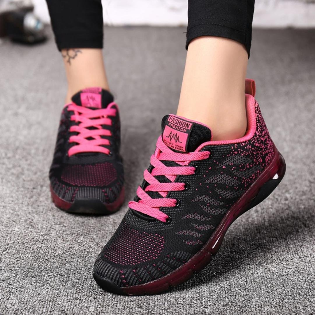 Clearance❤️Women Sports Shoes, Neartime Fashion Flying Woven Air Cushion Sneakers Student Running Basic Shoes
