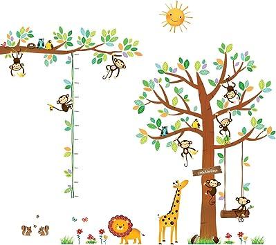 DECOWALL DW-1507S Affen Weinrebe Tiere Wandtattoo Wandsticker Wandaufkleber Wanddeko f/ür Wohnzimmer Schlafzimmer Kinderzimmer