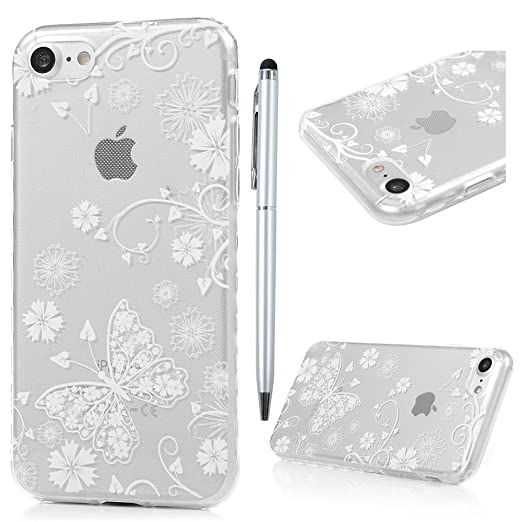 7 opinioni per iPhone 7 Custodia Silicone Ultra Slim- MAXFE.CO Case Cover Morbido TPU