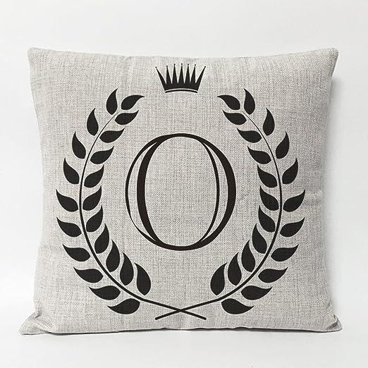 funhom hogar decorativo almohadas 26 Inglés Cartas corona ...
