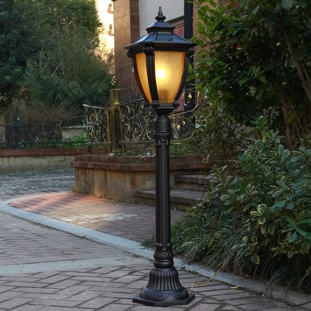Moddeny 1.1m Tall Outdoor Garden Lamp Post Light Victorian External Waterproof Pillar Lantern Stake Light Landscape Road Pathway Fence Yard Post Bollard Lamp E27 IP54 Rated