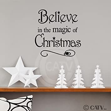 Believe In The Magic Of Christmas 12x12 Vinyl Wall Art Decals Sayings Words Lettering Quotes Home