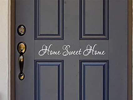 Home sweet home vinyl door decal home decals home sweet home decor vinyl custom