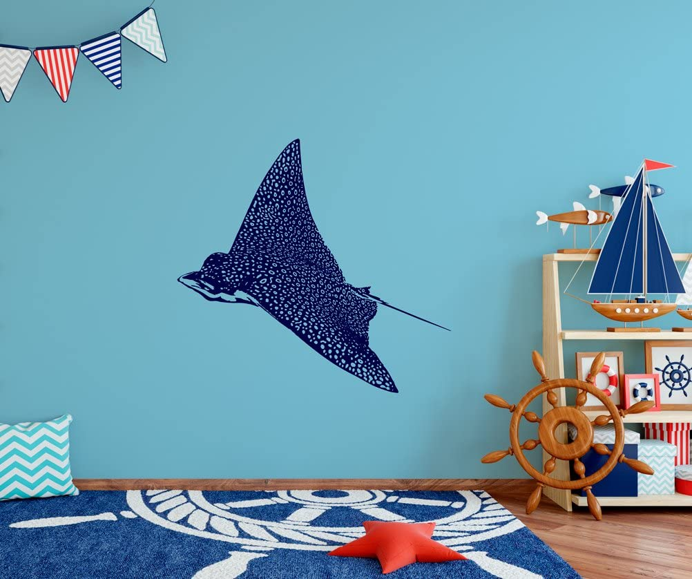 "Stingray Blue Beautiful Wall Decal Vinyl Home Decoration - 25"" Wide x 18"" high"