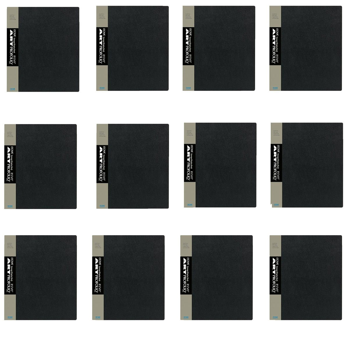 Pack Of 12 Itoya Art Profolio 8.5 x 11 Presentation Photo Album Book IA-12-8