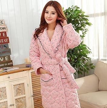 GL&G El nuevo otoño e invierno mujer modelos mujeres embarazadas camisón pijama tres capas más gruesas