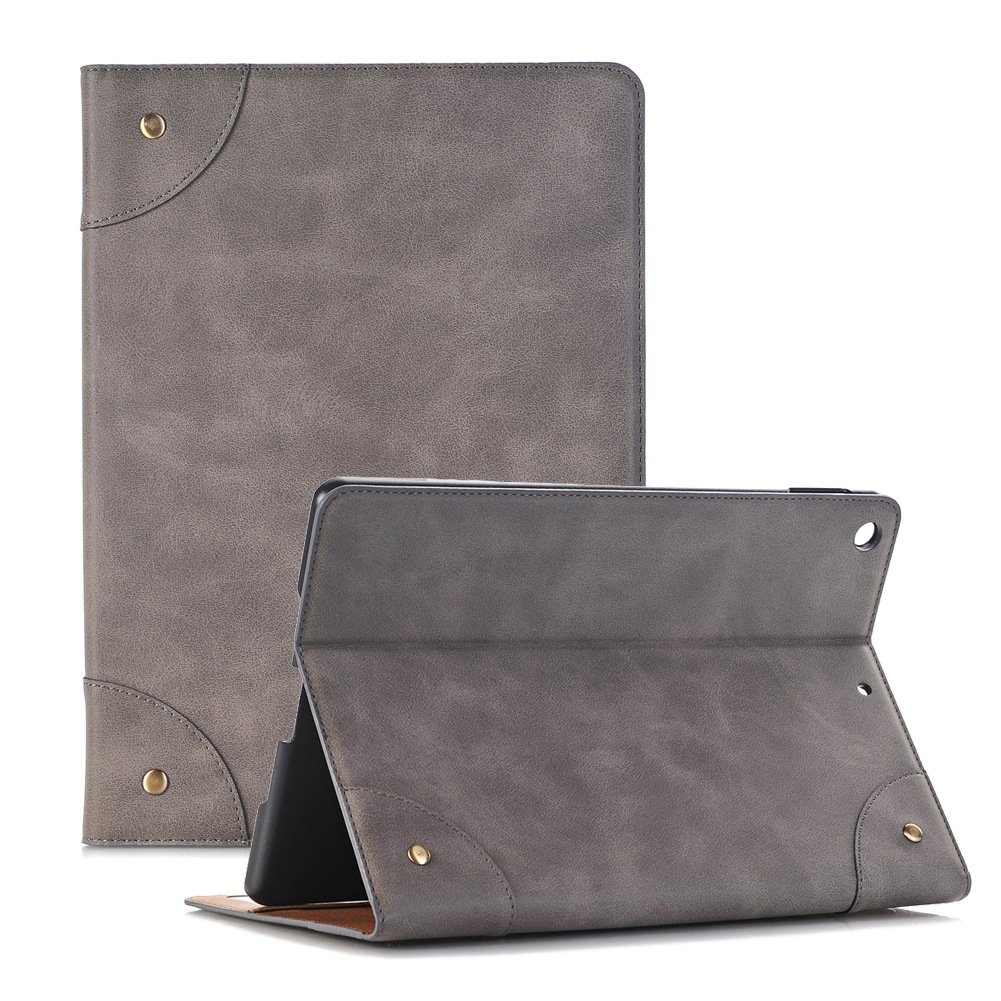 Ayans iPad 9.7 Case 2018/2017 iPad Case, Stand Folio Cover Case with Card Slots, PU Leather Business Slim Smart shell with Auto Sleep/Wake Function for 9.7 inch iPad 2018/2017,Gray