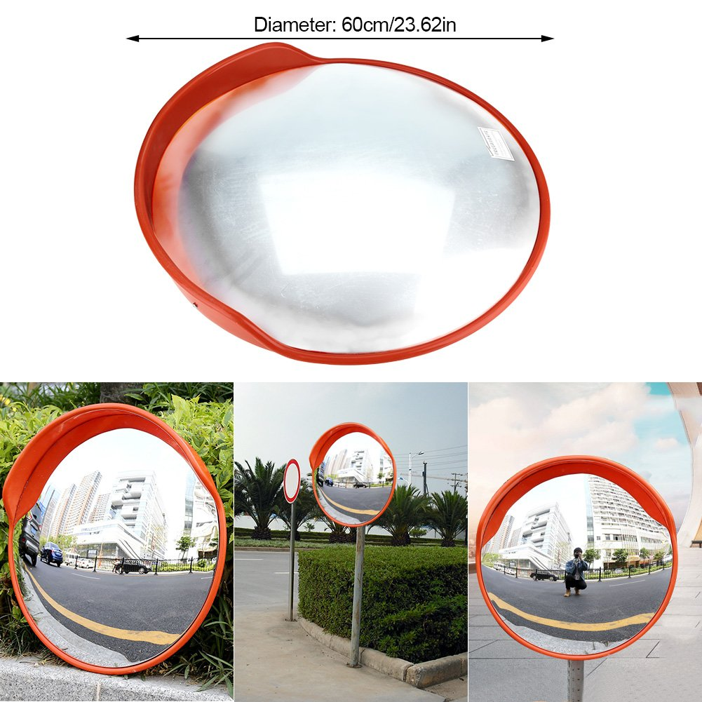 17.72Inch//45cm Safety Convex Mirror 130/°Wide Angle Round Large Safety Security Traffic Mirror with Mounting Bracket /& Screw to Eliminate Blind Spots Corners for Indoor Outdoor Office Stores Driveway