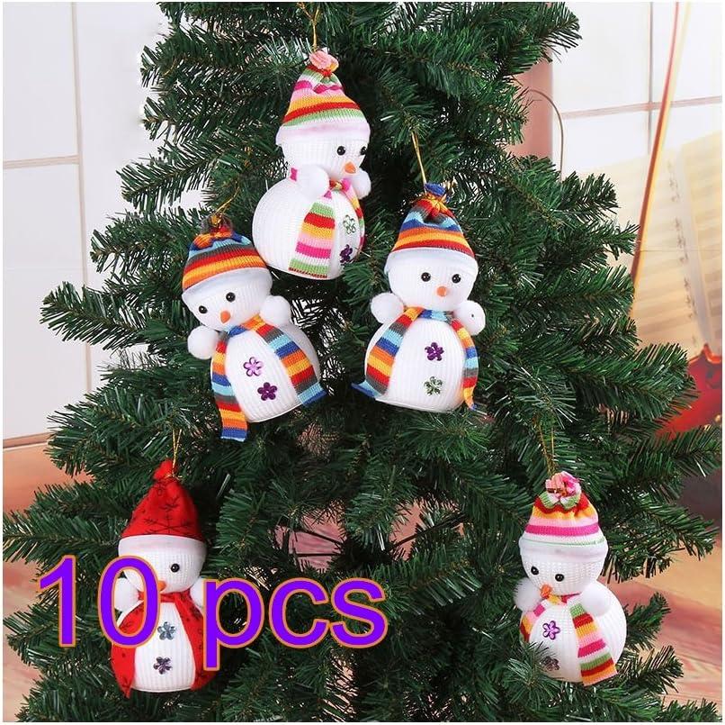 lulalula Navidad muñeco de nieve adornos colgantes de Navidad colgar decoración árbol de Navidad decoración muñeca para jardín al aire libre clave cadena, tela, 5pcs, talla única: Amazon.es: Hogar