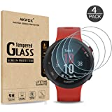 [4-Pack] Akwox Tempered Glass Screen Protector for Garmin Forerunner 45S / 45 GPS Running Watch, [2.5D Arc Edges High…
