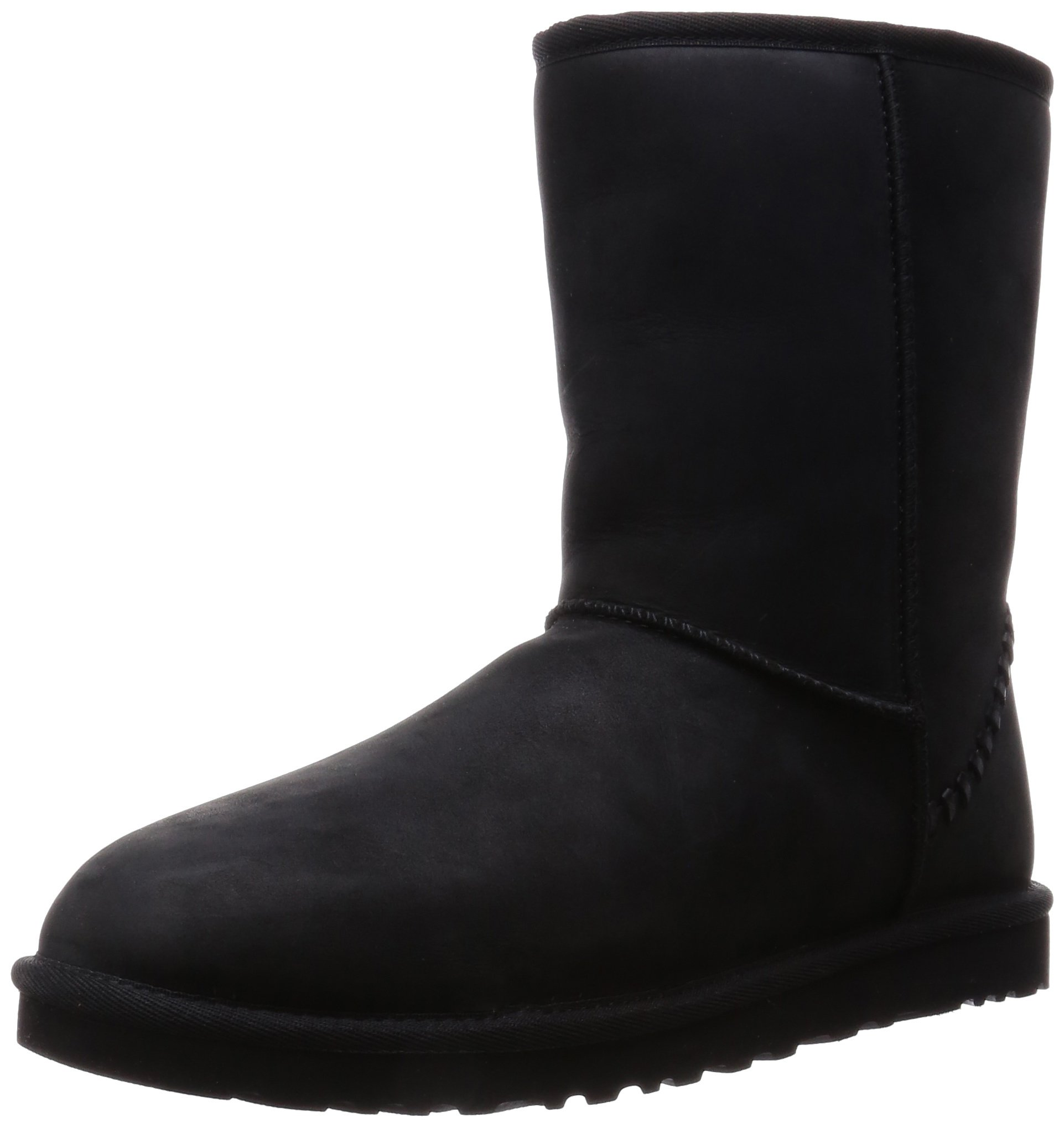 UGG Men's Classic Short Deco Black Leather 8 D US