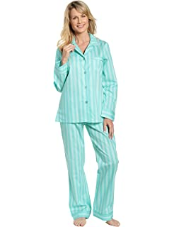 a3a3781a2b Noble Mount Womens Premium 100% Cotton Poplin Pajama Set at Amazon ...