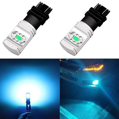 Alla Lighting 3800lm T25 3156 3157 Ice Blue LED Bulbs Xtreme Super Bright 3457 3056 4114 3157 LED Bulb ETI 56-SMD 8000K LED 3157 Bulb for Cars Trucks SUVs Turn Signal Daytime Running DRL Lights (2pc): Automotive