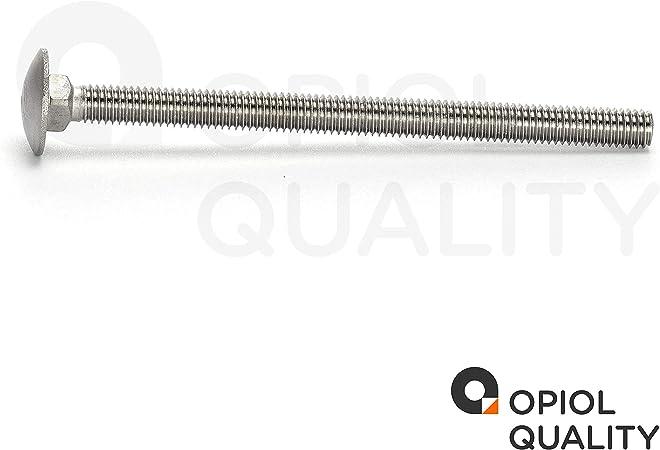 DIN 603 Flachrund-Schrauben Schlo/ßschrauben Schlossschrauben 50 St/ück M8x50 Edelstahl A2 V2A OPIOL QUALITY mit Vierkantansatz