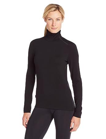 ff42931dae2 Amazon.com : Icebreaker Women's Tech Top Long Sleeve Turtleneck Top ...