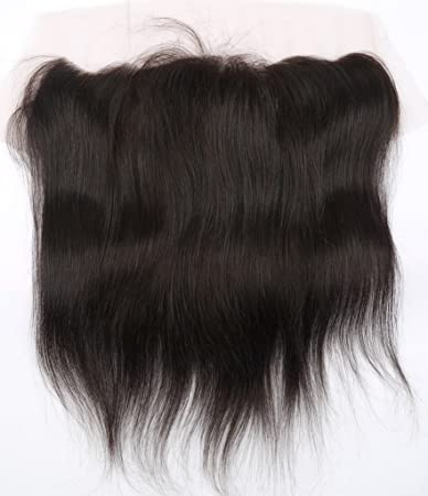 Lace Frontal Straight Closure 13x4 Free Part with Baby Hair Bleached Knots  Unprocessed Brazilian Virgin Human c56298d68
