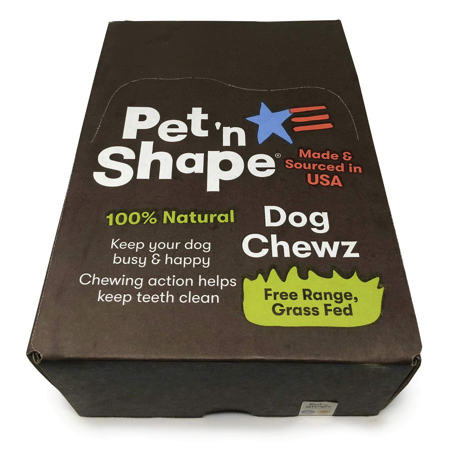Pet 'n Shape Beef Tendon, All Natural Dog Chewz, Large, 30 Count, 2 Pack