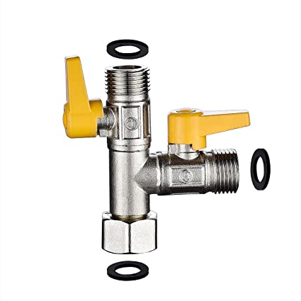 Ciencia Brass Water Diverter 3 Way Shower Diverter Valve T Adapter Shower  Head Shut Off Valve For Showerhead And Kitchen Faucet, DSF009     Amazon.com