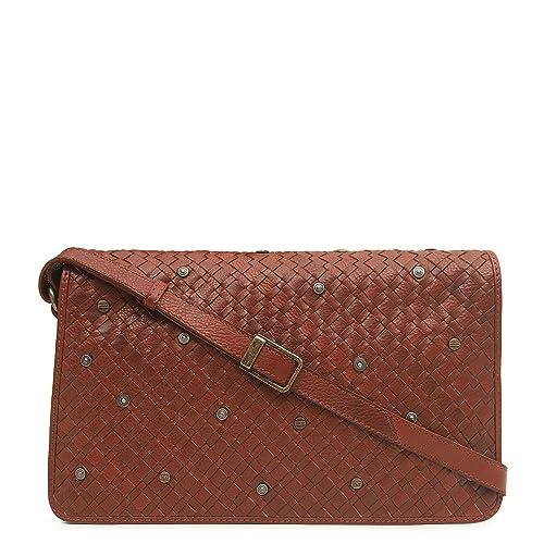 827617318 Da Milano SB-0070 Cognac Genuine Leather Sling Bag  Amazon.in  Shoes    Handbags