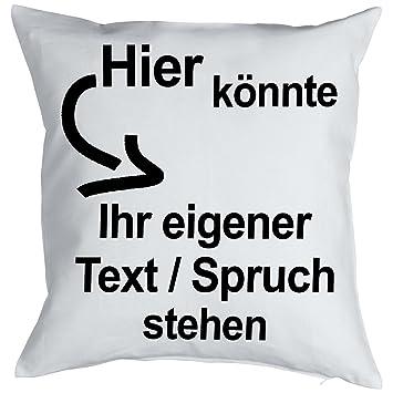 Mein Text Wunschtext Zum Geburtstag Eigener Text Spruch Selbst Gestalten  Eigene Glückwünsche Bedruckt Kissen Mit Innenkissen