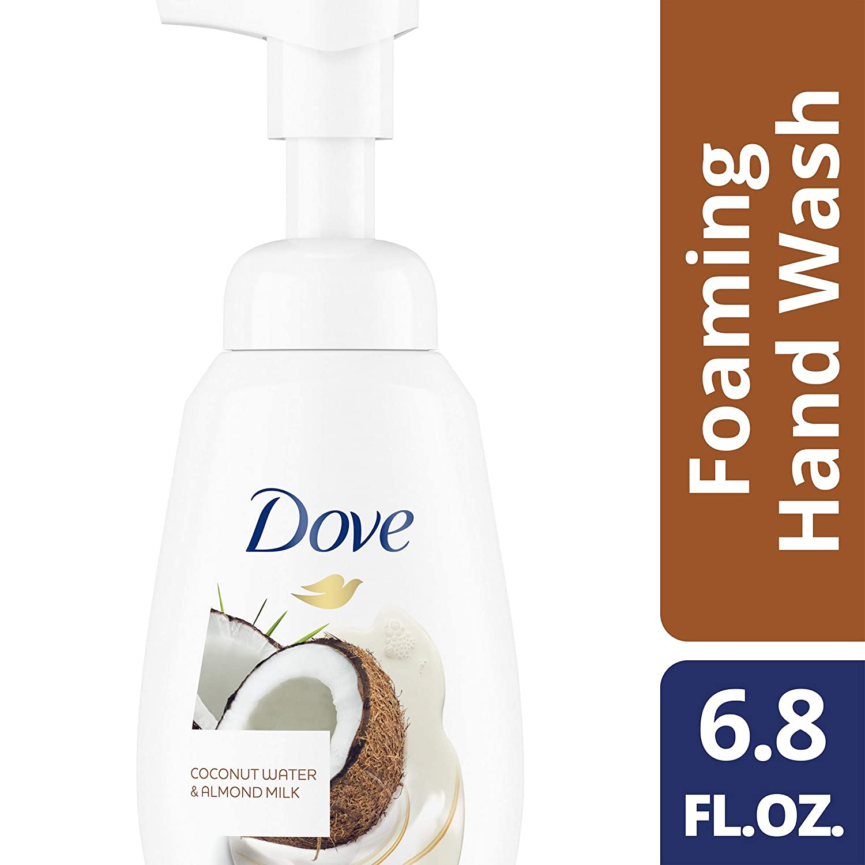 DOVE BODY WASH Foaming Hand Wash, Coconut Water & Almond Milk, 6.8 oz