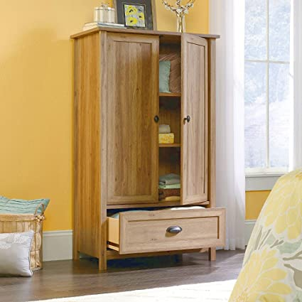 c74374736c7 Amazon.com  EFD Wooden Wardrobe Armoire Cabinet Closet With Drawer ...